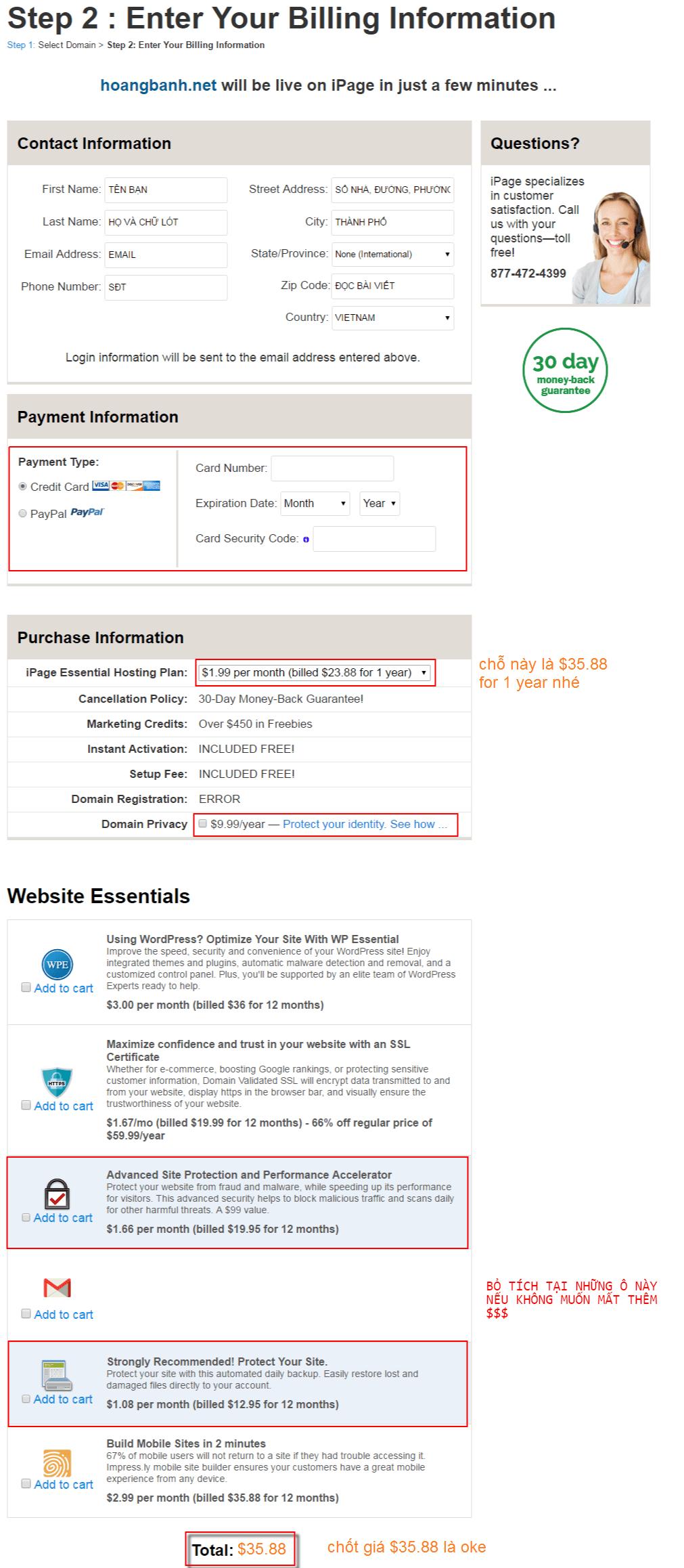 mua hosting ipage.com