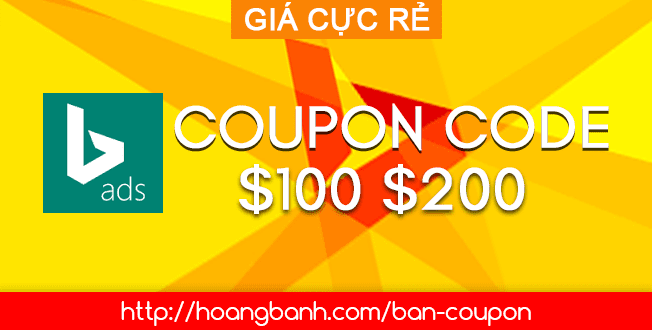 BAN COUPON CODE BING ADS $100 $200