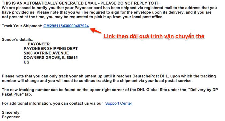 email-thong-bao cách đăng ký tài khoản, thẻ payoneer nhận $25 Cách đăng ký và xác minh tài khoản Payoneer nhận $25 Email thong bao