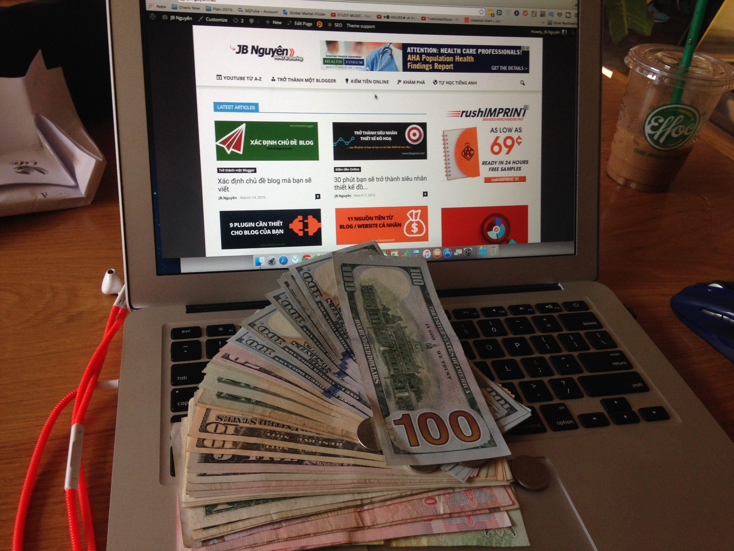 kiếm tiền trên mạng với affiliate