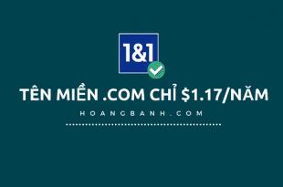 hướng dẫn mua tên miền giá rẻ tại 1and1.com