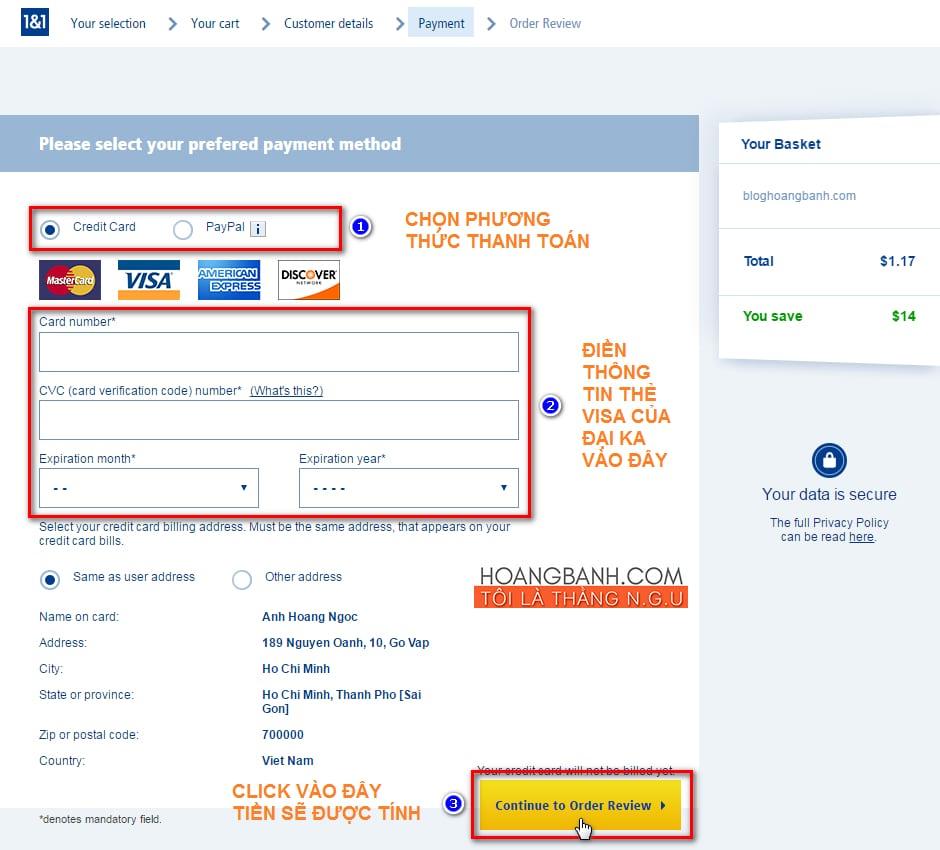 dang ky tai khoan 1and1.com mua tên miền tại 1and1 Hướng dẫn mua tên miền tại 1and1.com giá $1.17/năm mua ten mien tai 1and1