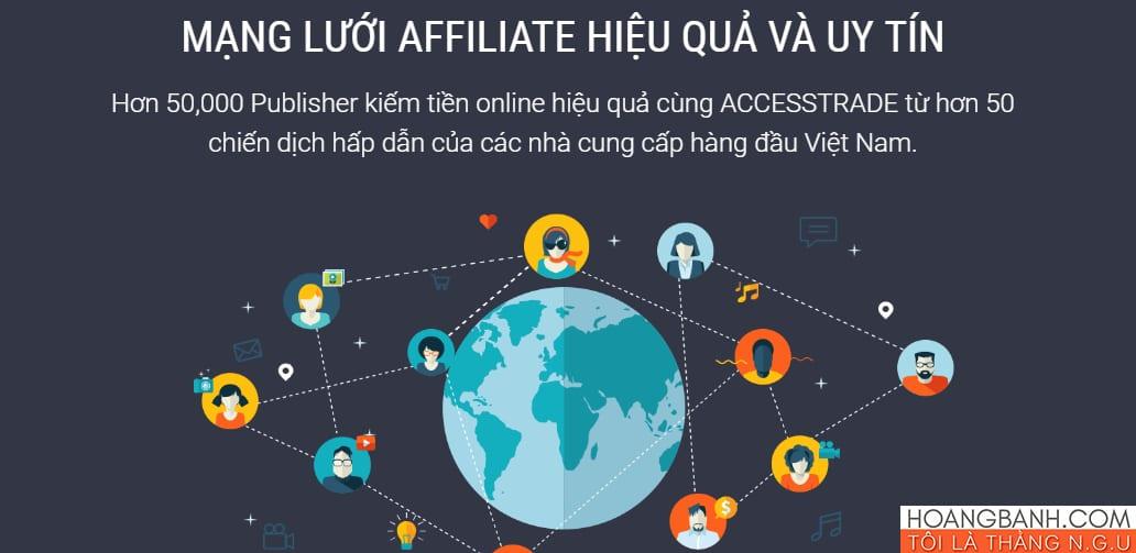 kiếm tiền tiếp thị liên kết với accesstrade.vn tiếp thị liên kết