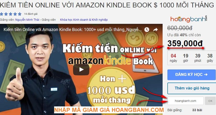 kiếm tiền với amazon kindle ebook