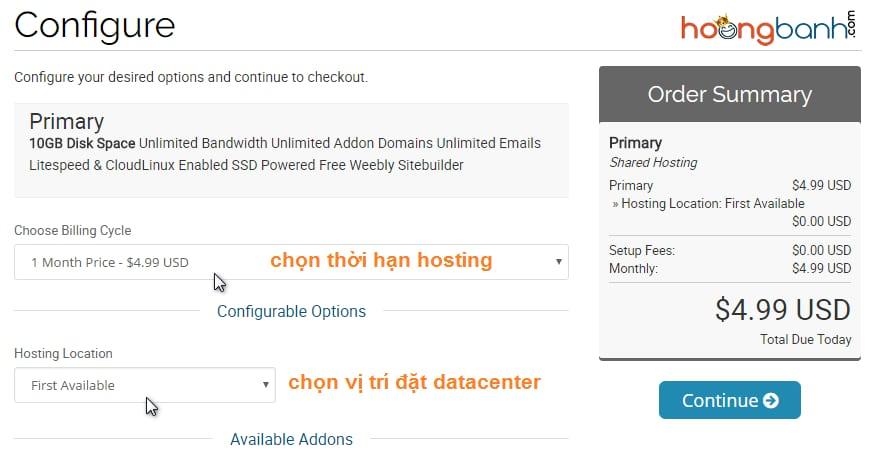 hướng dẫn đăng kí hosting