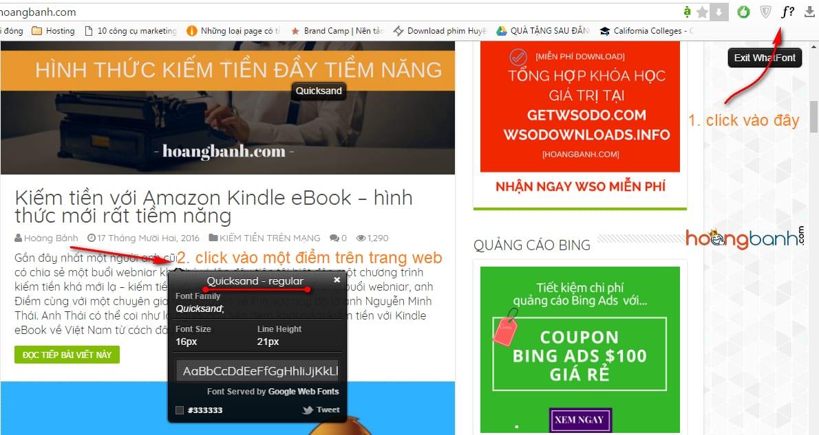 xac dinh font chu tren web cài đặt font chữ đẹp cho blog wordpress